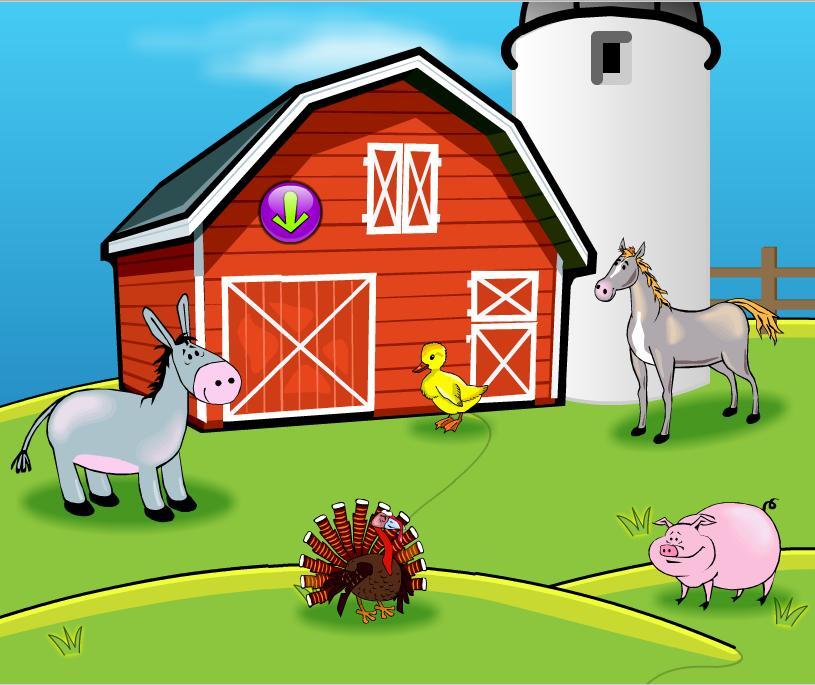 Tiere auf der Farm - Los animales de la granja