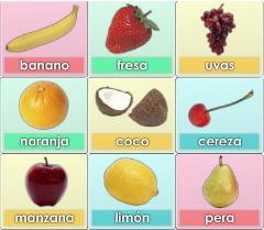 Früchte - Las frutas